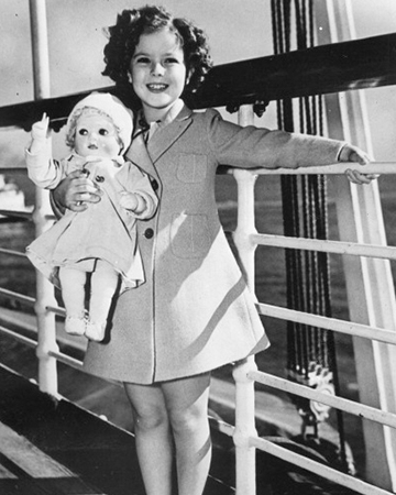 Shirley Temple on a ship in Hawaii | Sheknows.com