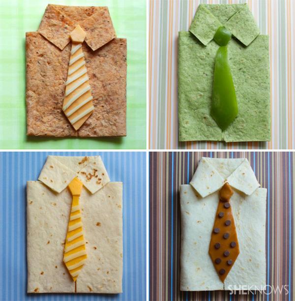 Shirt and tie quesadilla