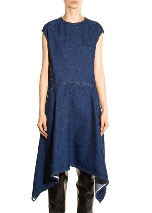 Denim Dresses Are Back: Balenciaga Cut-Out Denim Dress | Summer Fashion Trends