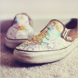 spice up a pair of canvas shoes