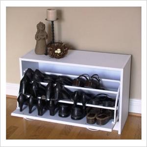 Shoe racks that double as décor