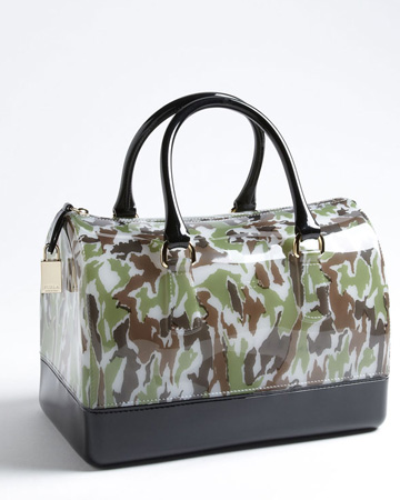 Furla Candy Camo Rubber Satchel $278,