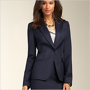 220130fd2af Shop this look  Fashion-forward alpha females. Hairstyles successful women  wear. Pinstripe Pickstiched Jacket from Talbots
