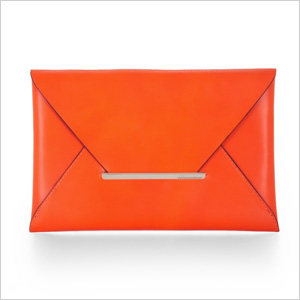 Harlow leather envelope clutch