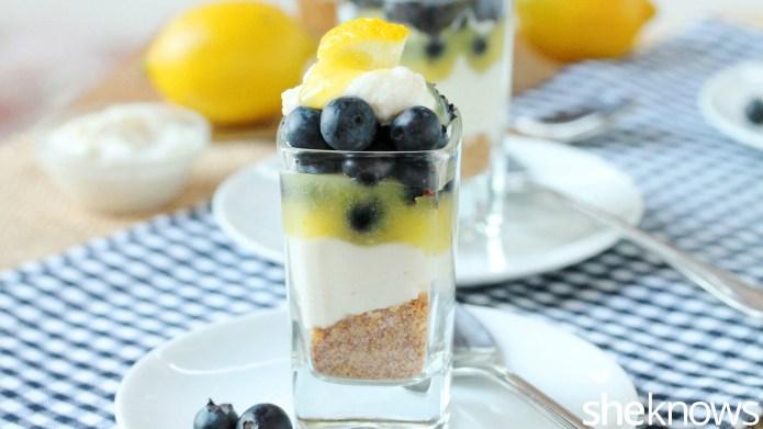 Blueberry-lemon dessert shots are the best