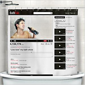 YouTub shower curtain | Sheknows.com