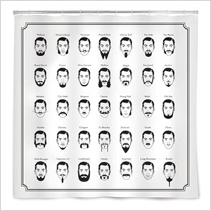 Visual guide to facial hair shower curtain | Sheknows.com