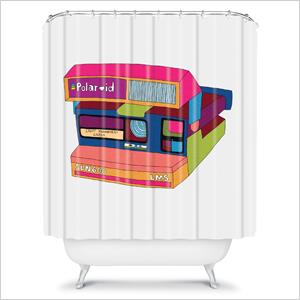 Polaroid illustration shower curtain | Sheknows.com