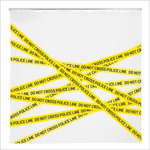 Crime scene shower curtain | Sheknows.com