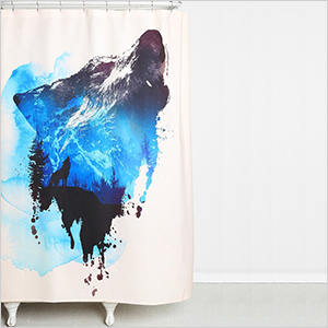 Lone wolf shower curtain | Sheknows.com