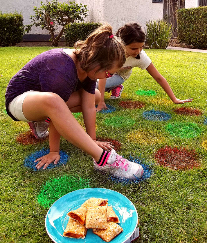 Lawn Twister game