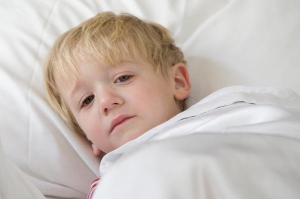 Sick toddler boy