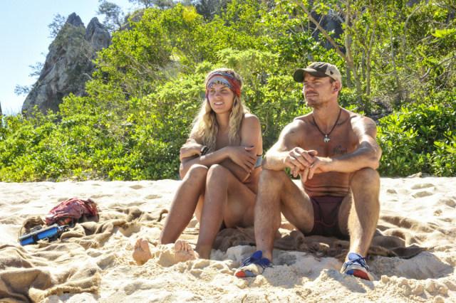Sierra Dawn-Thomas with Brad Culpepper on Survivor: Game Changers