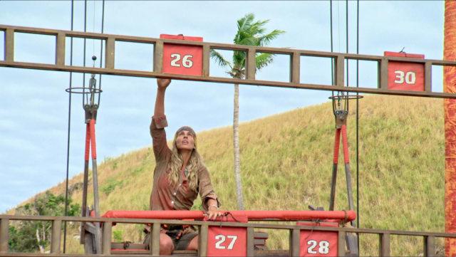 Sierra Dawn-Thomas competes in challenge on Survivor: Game Changers