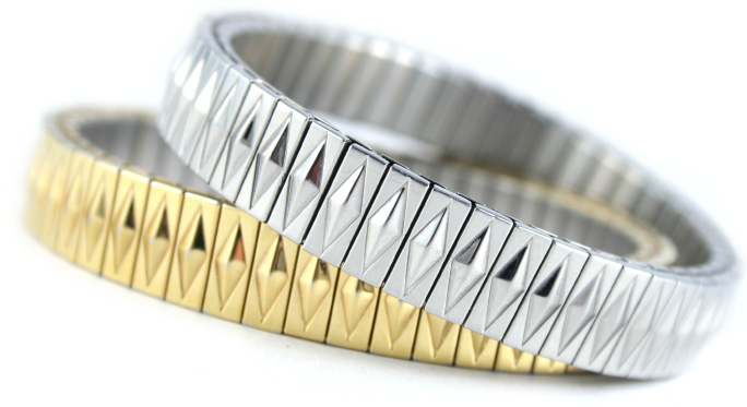 gold and silver bracelets