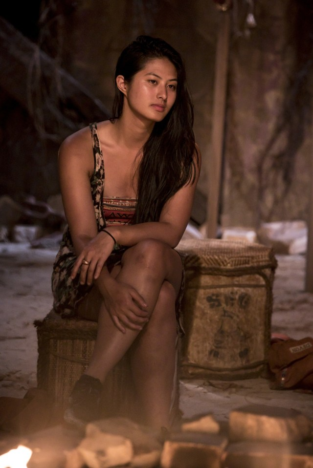 Simone Nguyen at Tribal Council on Survivor: Heroes Vs. Healers Vs. Hustlers