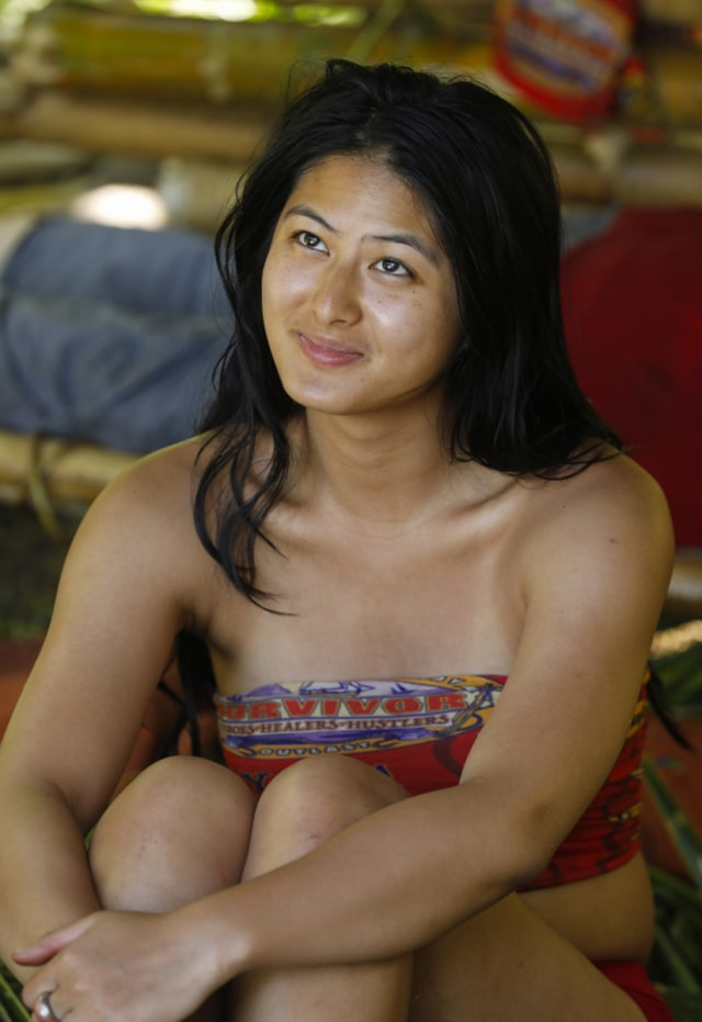 Simone Nguyen on Hustlers tribe during Survivor: Heroes Vs. Healers Vs. Hustlers
