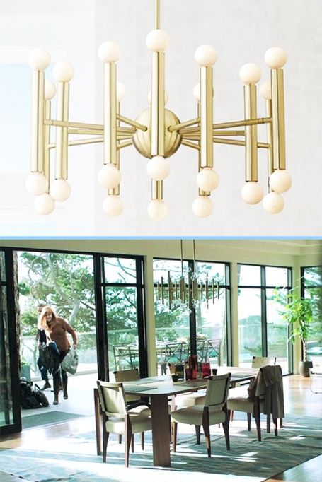 Possini Euro Satin Brass Chandelier