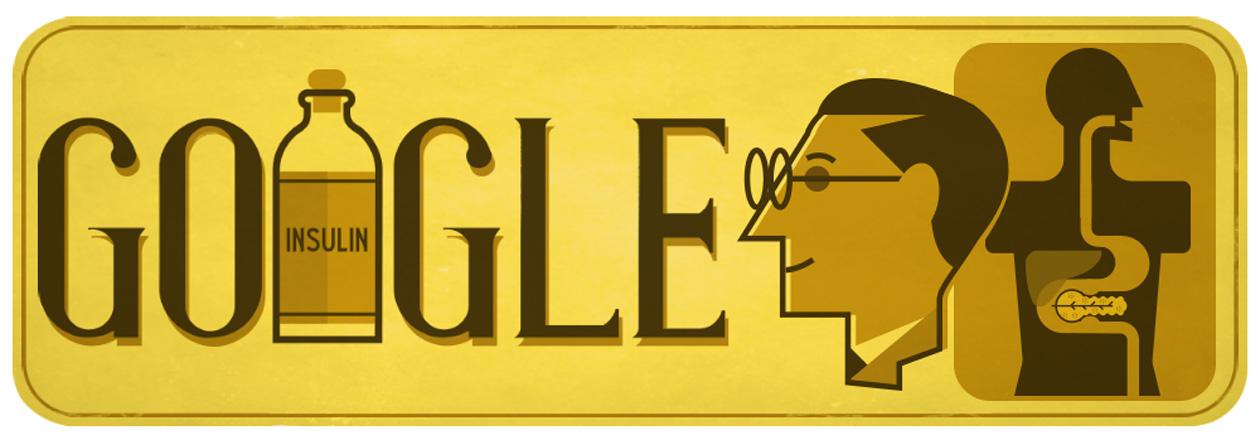 Google Doodle of Frederick Banting