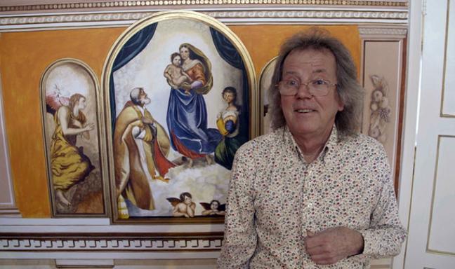 Robert Burn's homage to the Sistine Chapel
