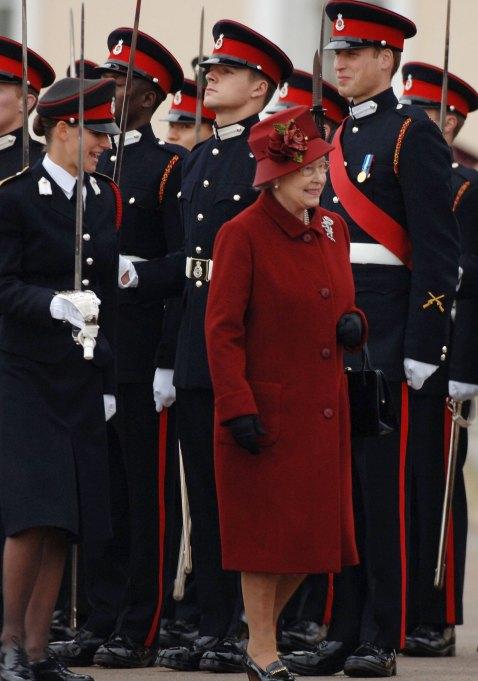 Prince William laughing at Queen Elizabeth