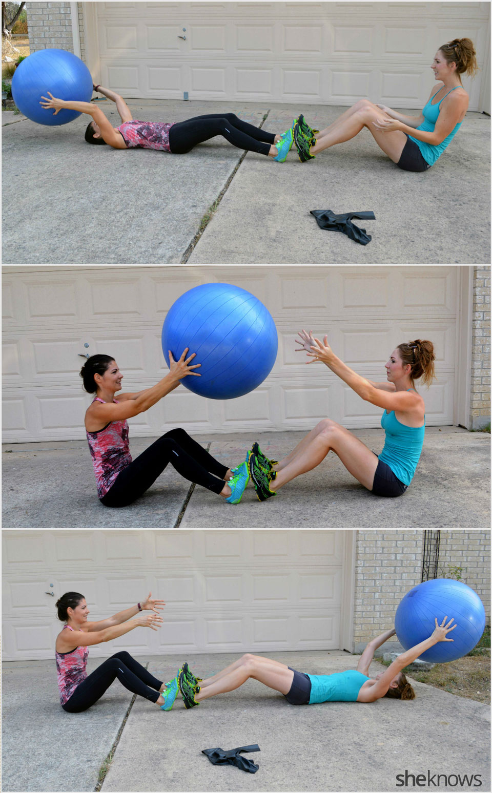 Stability ball situps
