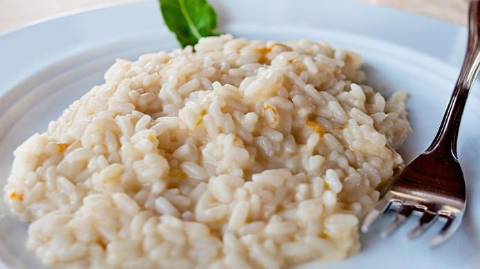 Risotto, broccoli and manchego cheese for