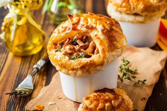 Individual Mushroom pot pie with puff