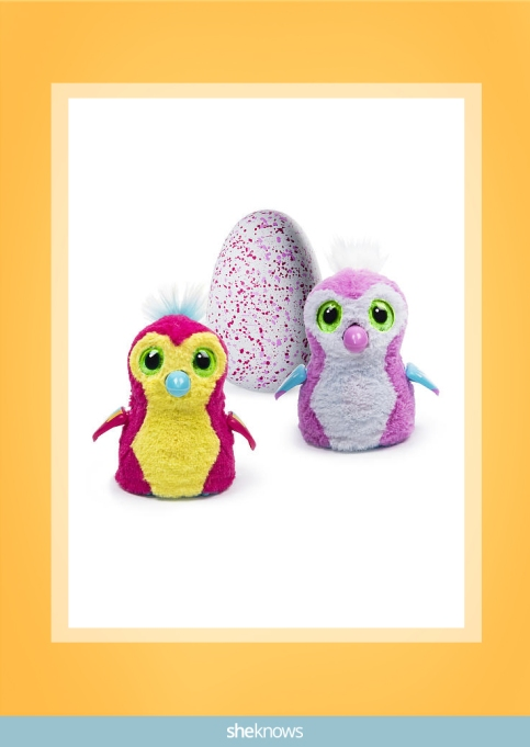 Hatchimals Penguala pink and yellow