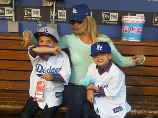 Britney Spears with Sean and Jayden