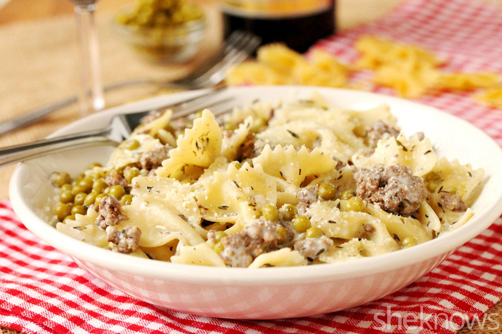 1 skillet casserole bow tie pasta