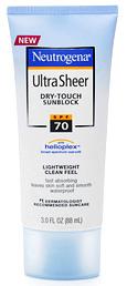 Neutrogena's Ultra Sheer Dry-Touch Sunblock