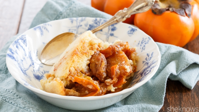 Slow Cooker Sunday: Persimmon cobbler that