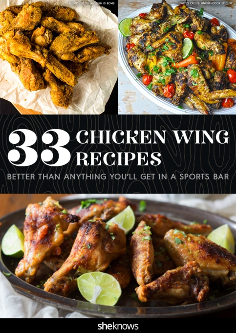 Chicken wings recipes Pinterest image