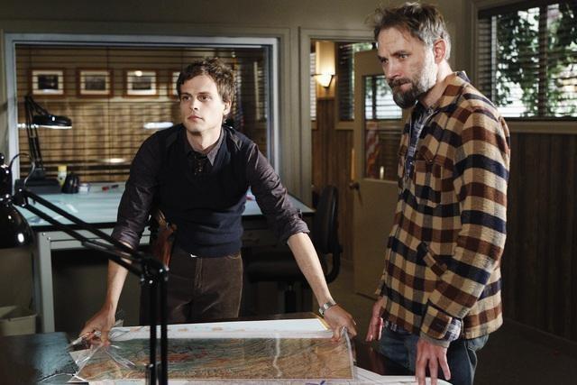 Matthew Gray Gubler & David Meunier in 'Criminal Minds'