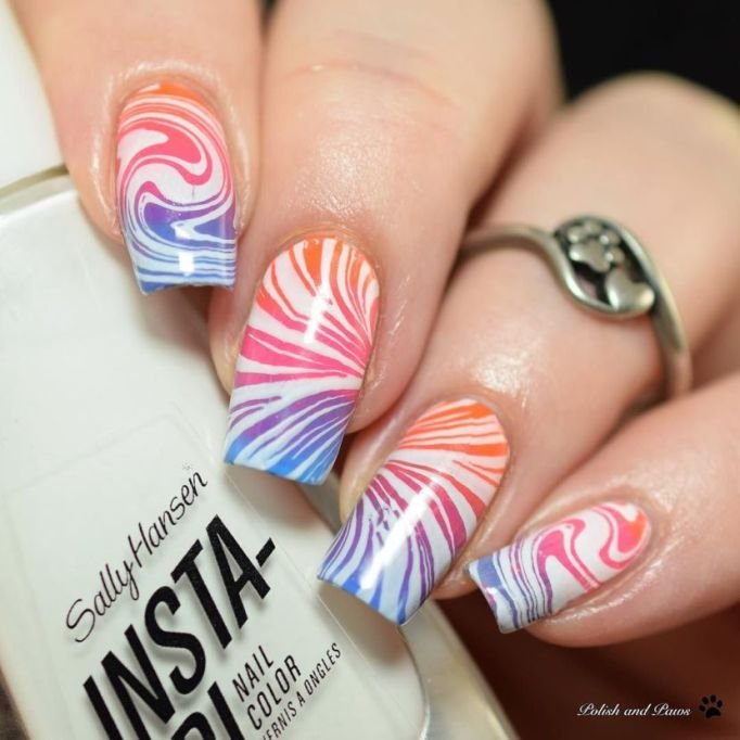 Marble Plate Nail Art