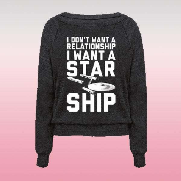 'Starship' sweatshirt