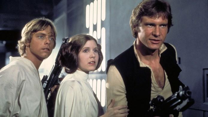 Mark Hamill (as Luke Skywalker), Carrie