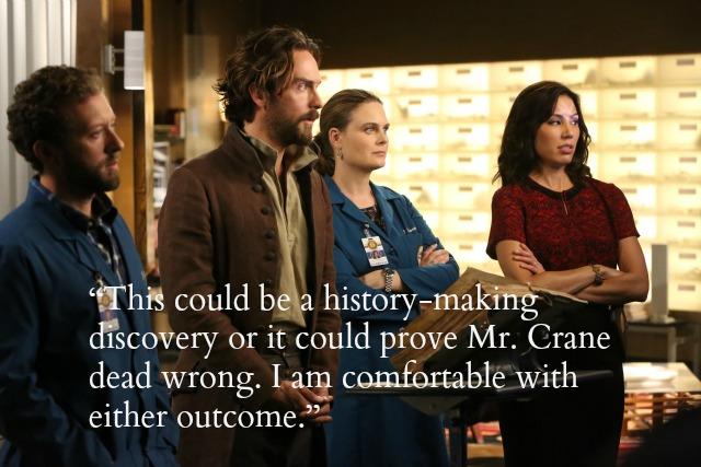 Sleepy Hollow/Bones crossover - Hodgins, Ichabod, Brennan, Angela