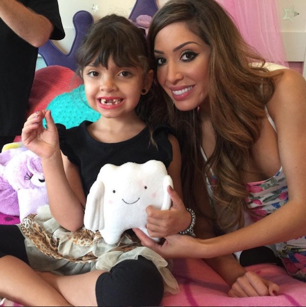 Teen Mom's Farrah Abraham and daughter Sophia after another lost tooth