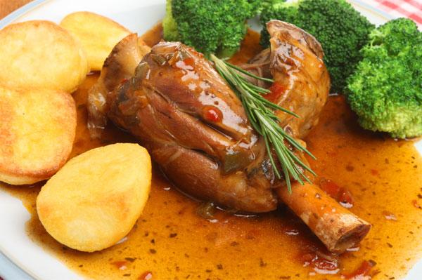 slow cooker lamb shank