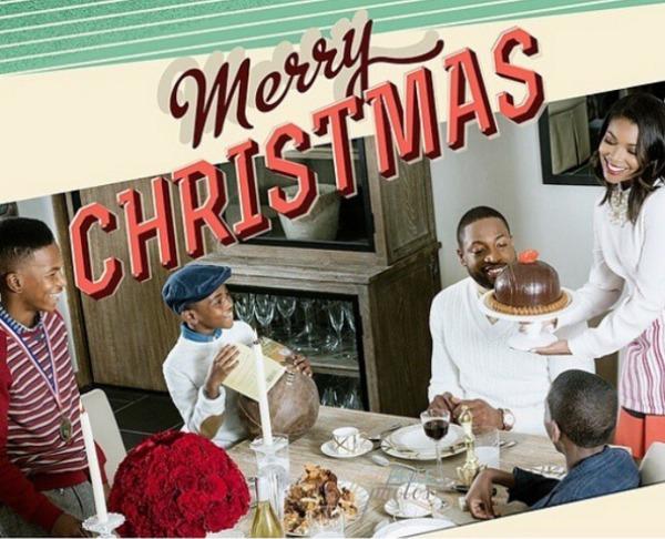 Gabrielle Union Christmas card