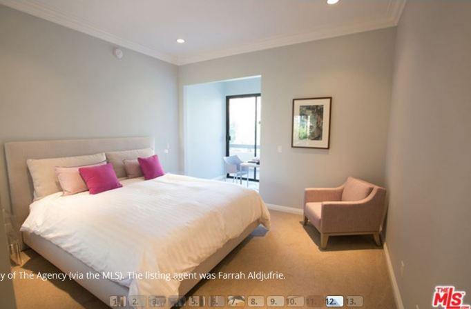 Kris Jenner condo guest bedroom