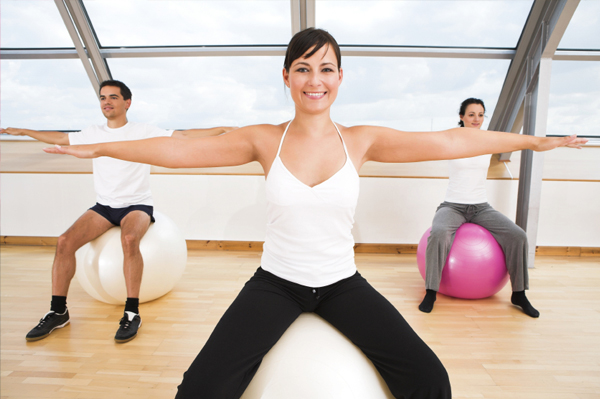 Small group fitness class