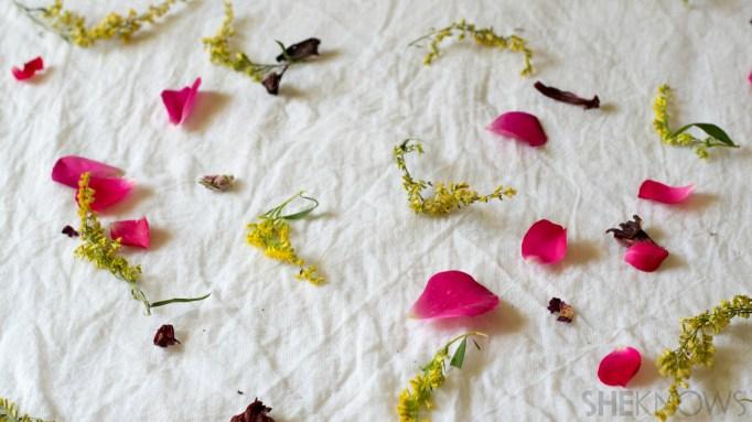 flower tie dye
