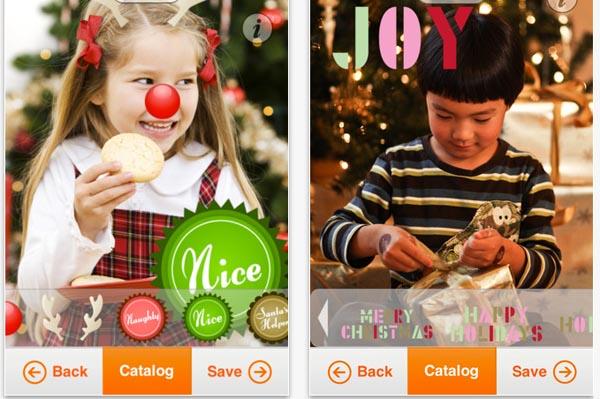 Smilebox Christmas card