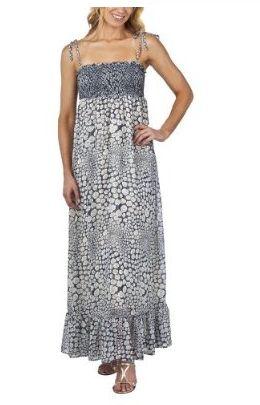 Smocked Top Maxi Dress - Blue Grand Royal