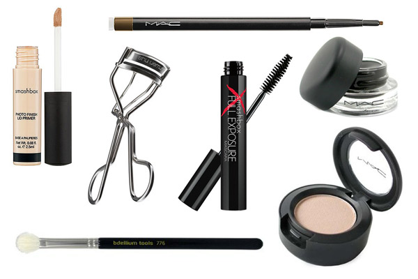 Smoky eyes product collage