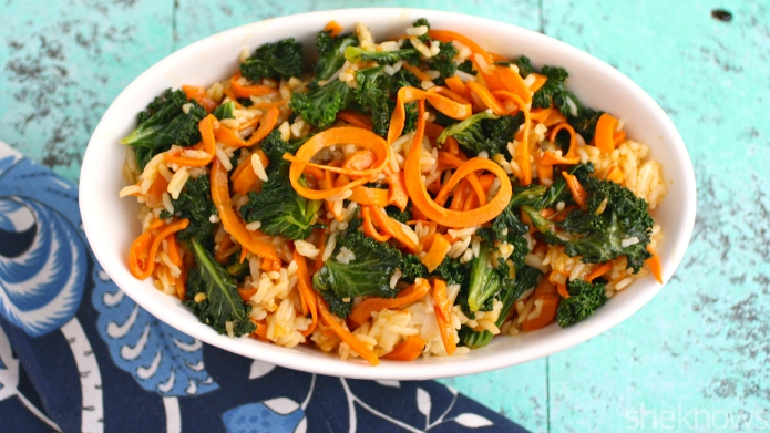 Meatless Monday: Kale and sweet potato