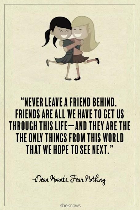 Dean Koontz quote about friendship